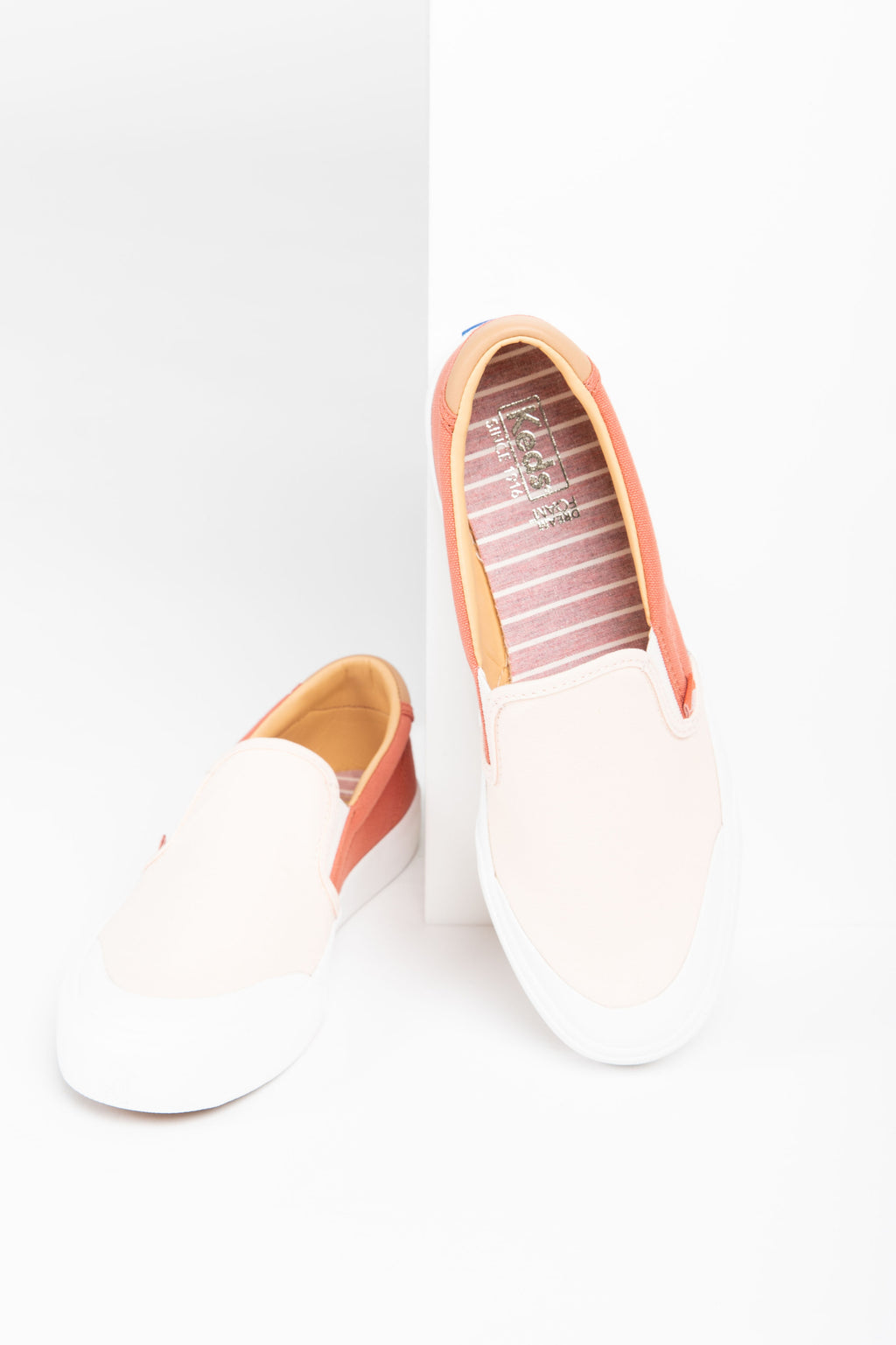 Keds: Crew Kick 75 Slip On Canvas in Coral/Rose