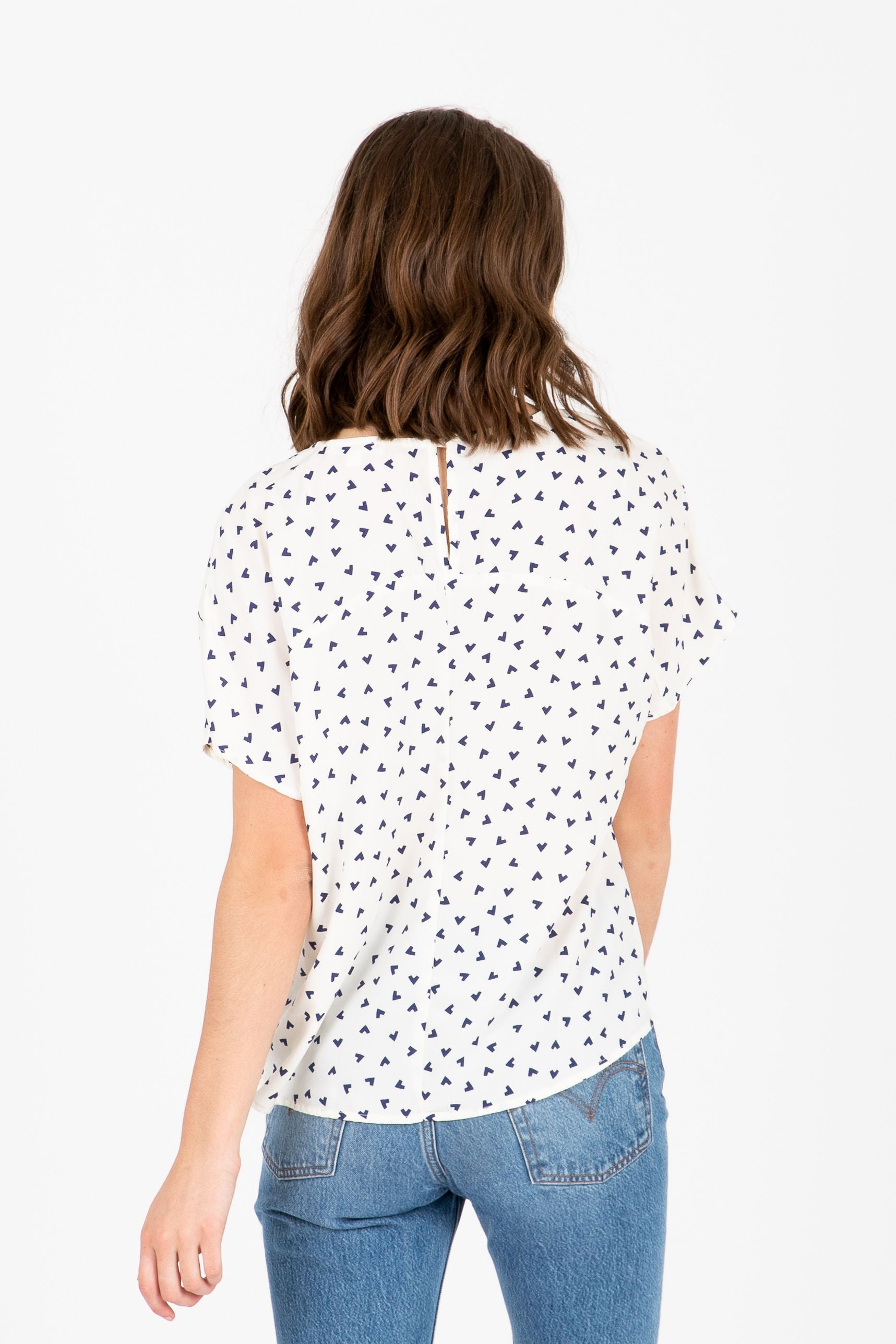 The Candyland Arrow Blouse in Ivory