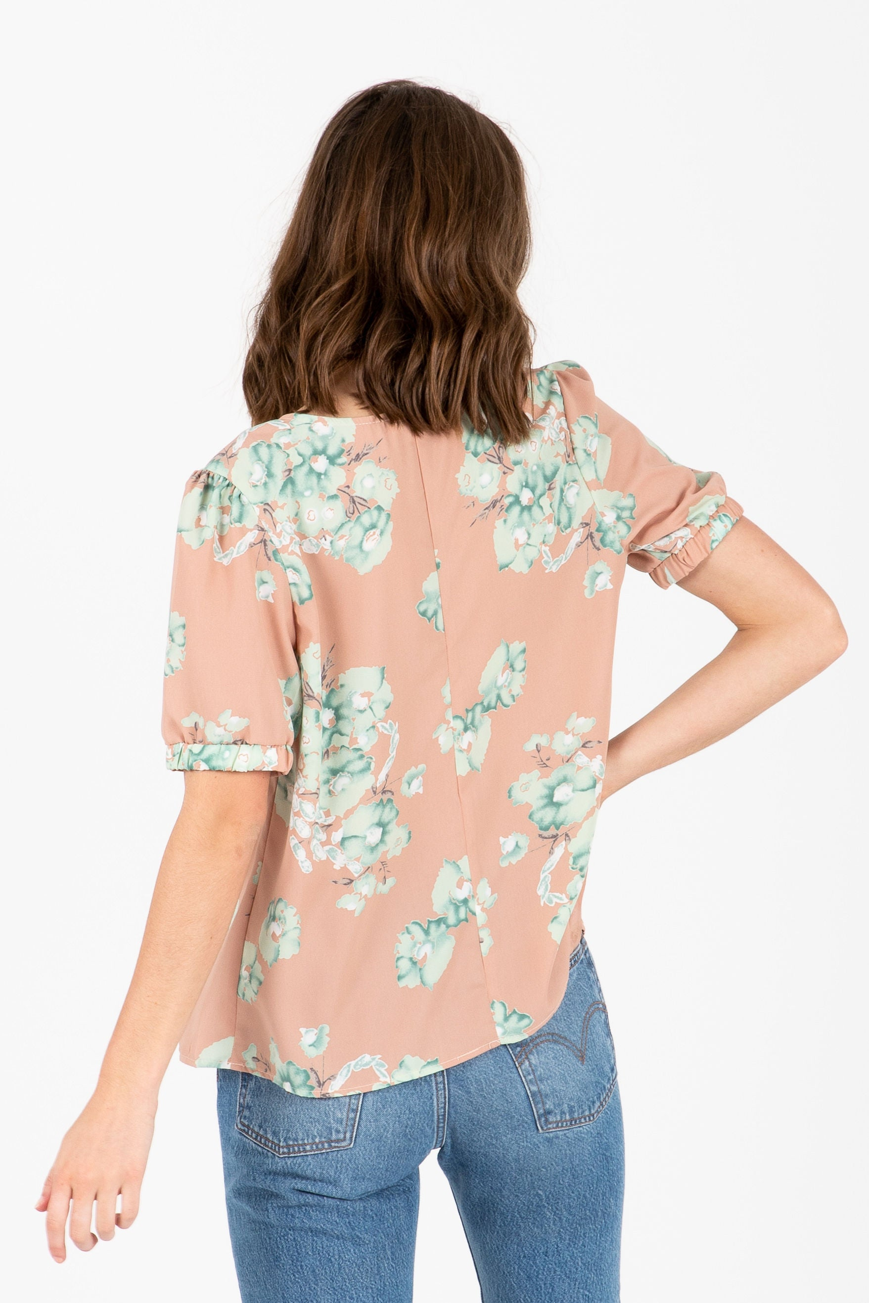 The Superbloom Floral Blouse in Mauve