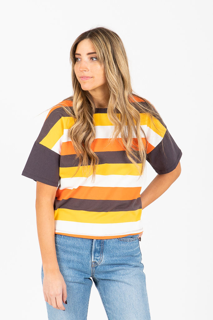 The Binzi Striped Tee in Sunrise