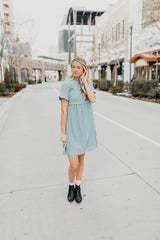 Piper & Scoot: Peasant Dress in Spring Blue
