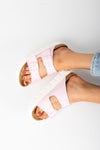 Birkenstock: Arizona Chunky Birko-Flor in Rose Narrow Fit