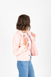 Levi's: Original Puff Sleeve Trucker Jacket in Chalky Blush, studio shoot; side view