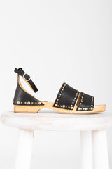 Free People: North Shore Clog Sandal in Black