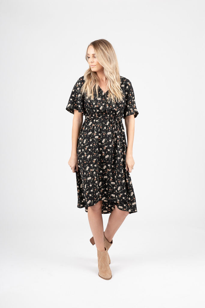 Piper & Scoot: The Liberty Floral Empire Dress in Black