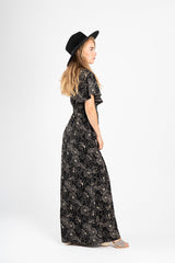 Piper & Scoot: The Empire Floral Patterned Maxi Dress in Black