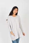 The Peak Speckled Trim Sweater in Grey