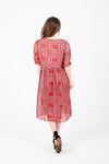Piper & Scoot: The Joseph Patterned Tie Dress in Poppy