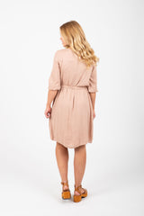 The Scattered Petals Dress in Champagne Rose
