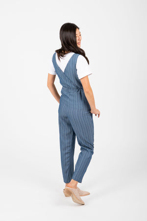 The Seward Striped Denim Jumpsuit