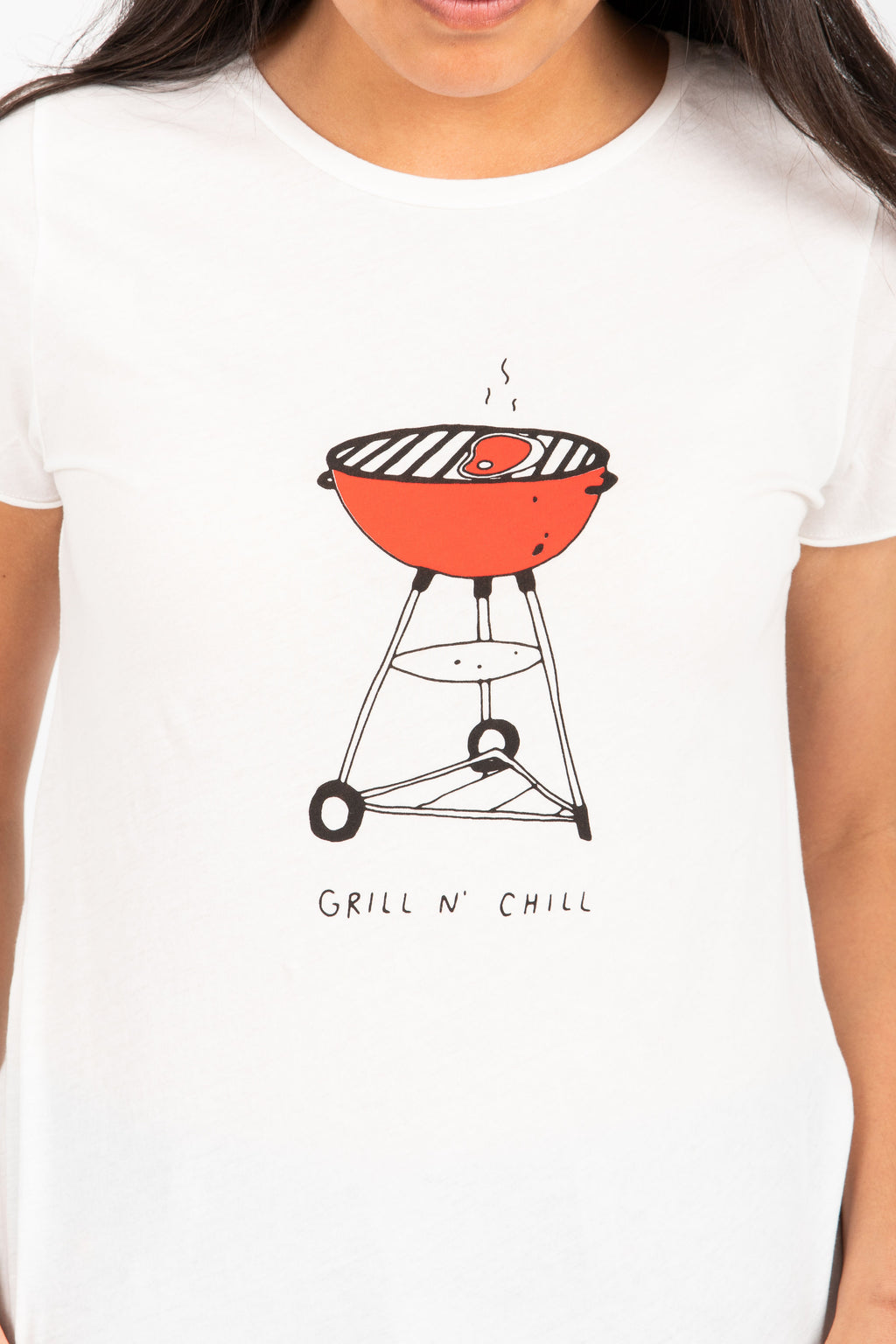 The Becker Grill N Chill Tee in Vintage White