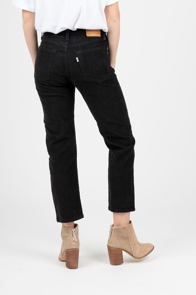 Levi's: Wedgie Fit Straight Corduroy in Black