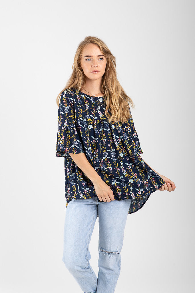 83ca8daf The David Floral Empire Blouse in Navy – Piper & Scoot