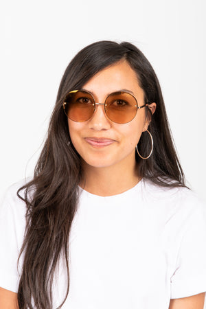 Le Specs: SAY MY NAME Sunglasses | ROSE GOLD-BLUSH GOLD FLASH