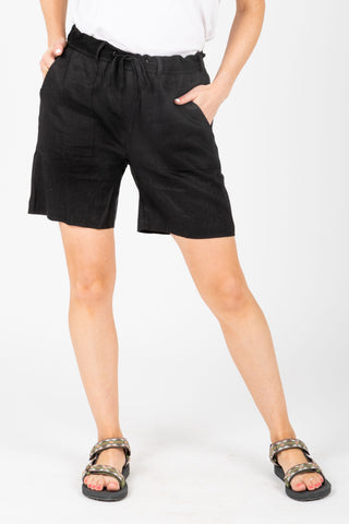 The Eason Patterned Silk Skirt in Black