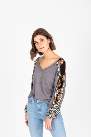 The Elmarie Cozy Mock Neck Blouse in Black