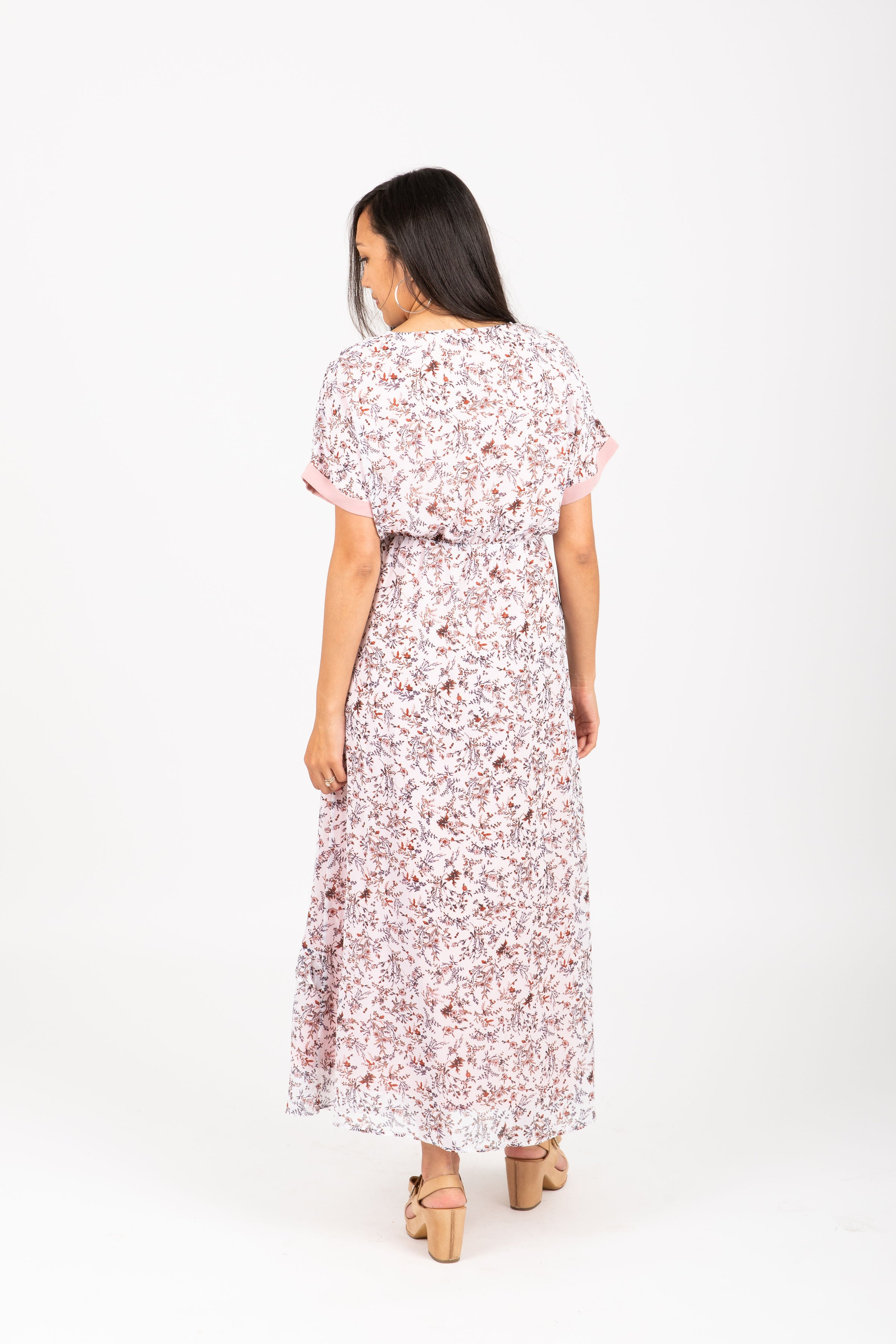 Piper & Scoot: The Dusk Floral Tiered Dress in Blush