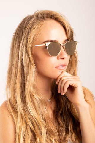 Le Specs: Empress Sunglasses in Bright Gold