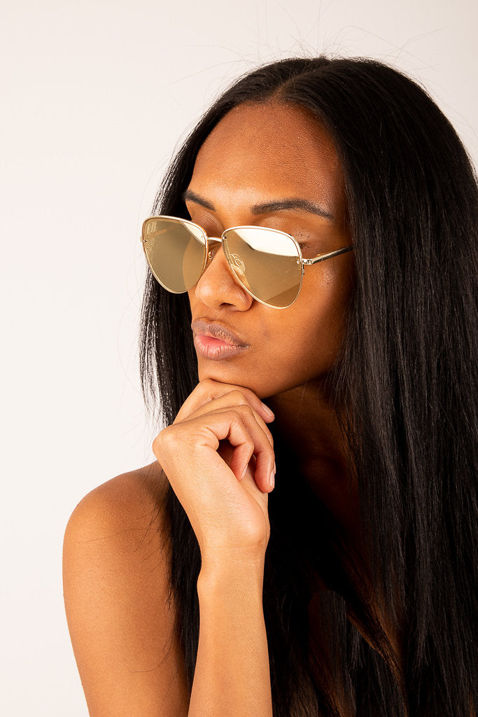 Le Specs: Empress Sunglasses in Gold