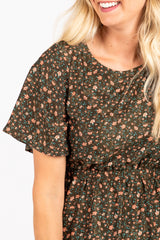 Piper & Scoot: The Cherish Floral Empire Dress in Green