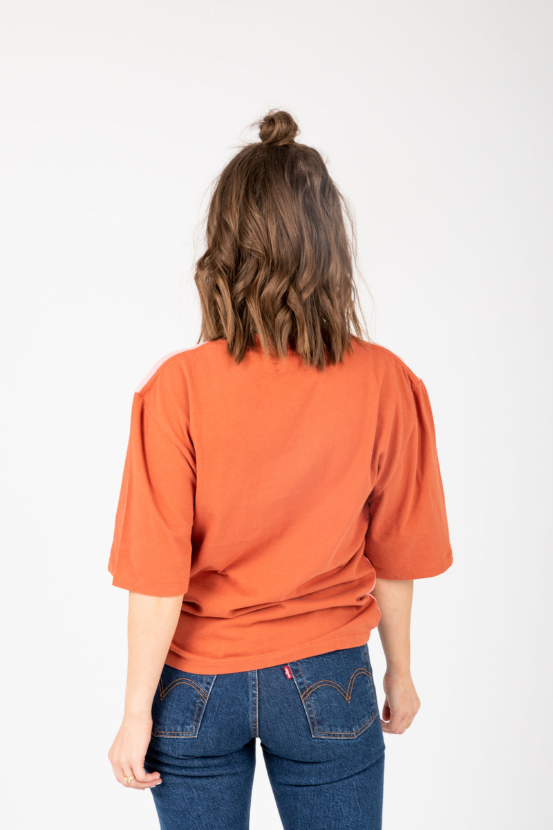 Levi's: Oversized Sleeve Tee Shirt in Faded Peach, studio shoot; back view