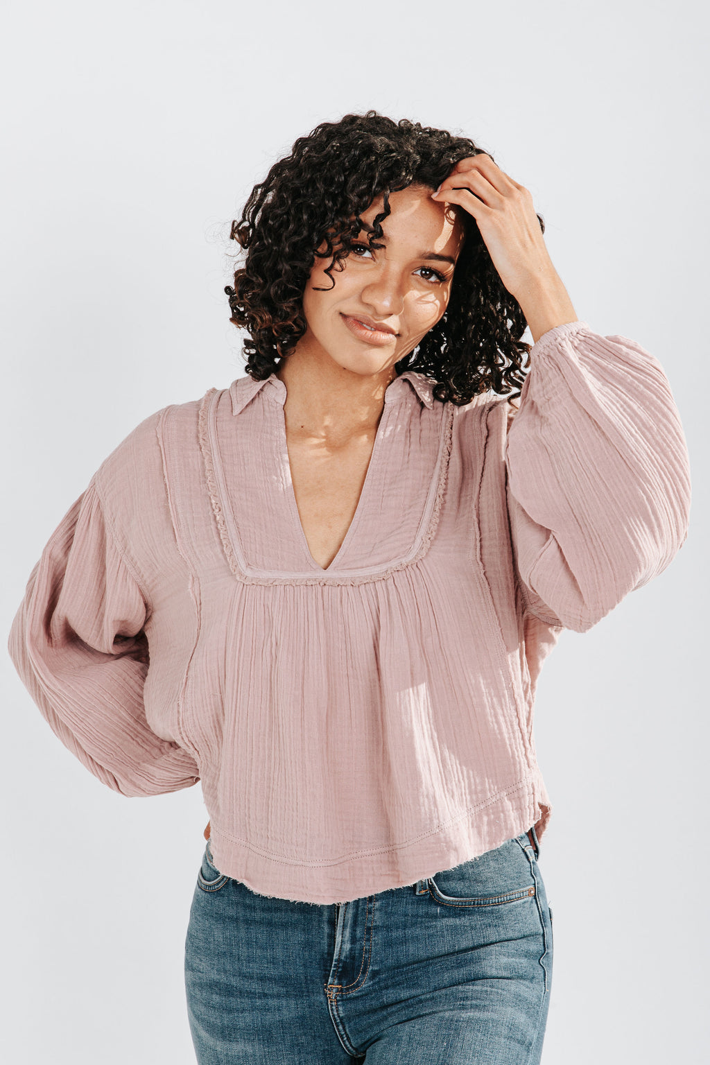 Free People: Cozy Dreams Pullover in Daytime Fireworks