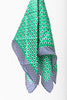 Color Dots Silk Bandana in Green