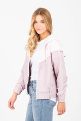 The Palmer Windbreaker in Soft Mauve