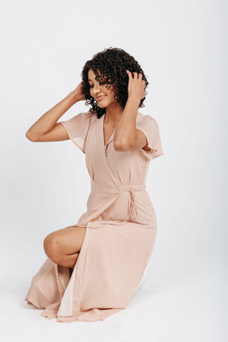 The Jessyca Maxi Dress in Dusty Rose