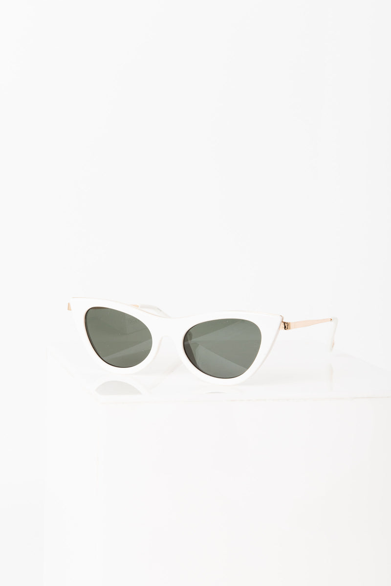 Le Specs: ENCHANTRESS Sunglasses | WHITE MONO