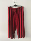 The Hanna Ribbed Casual Set in Burgundy