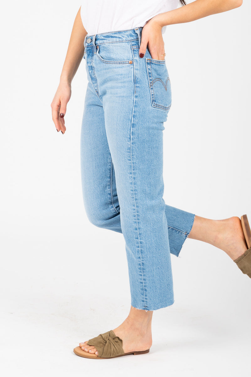 Levi's: Wedgie Fit Straight Jeans in Medium Wash