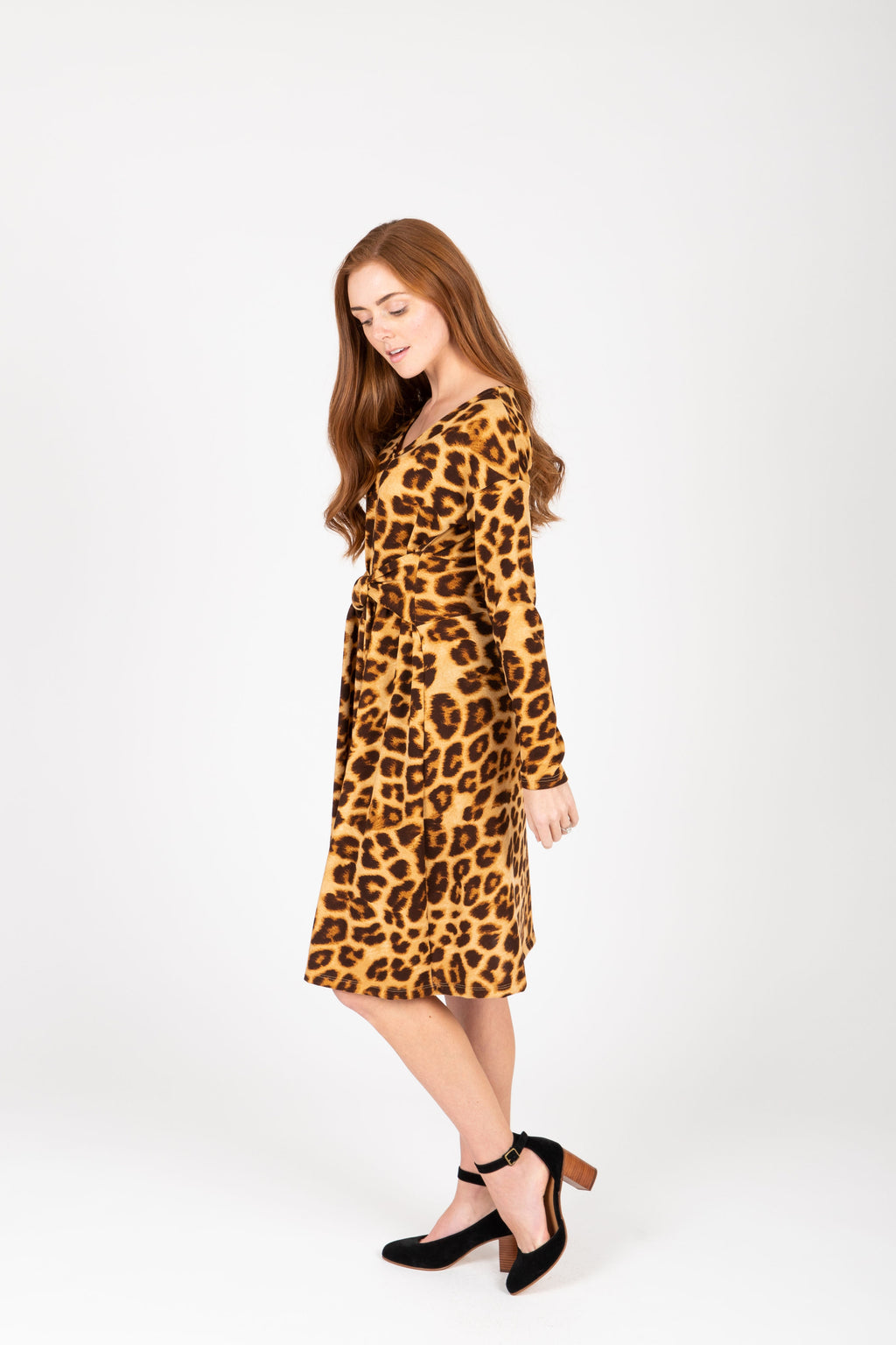 The Donna Leopard Tie Front Dress