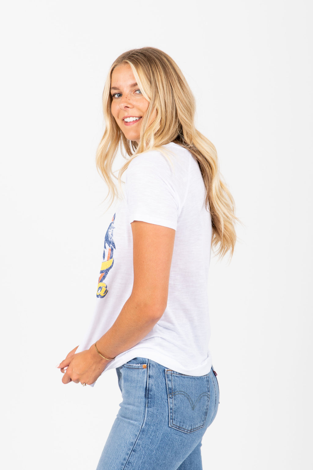 The Firefly California Graphic Tee in White
