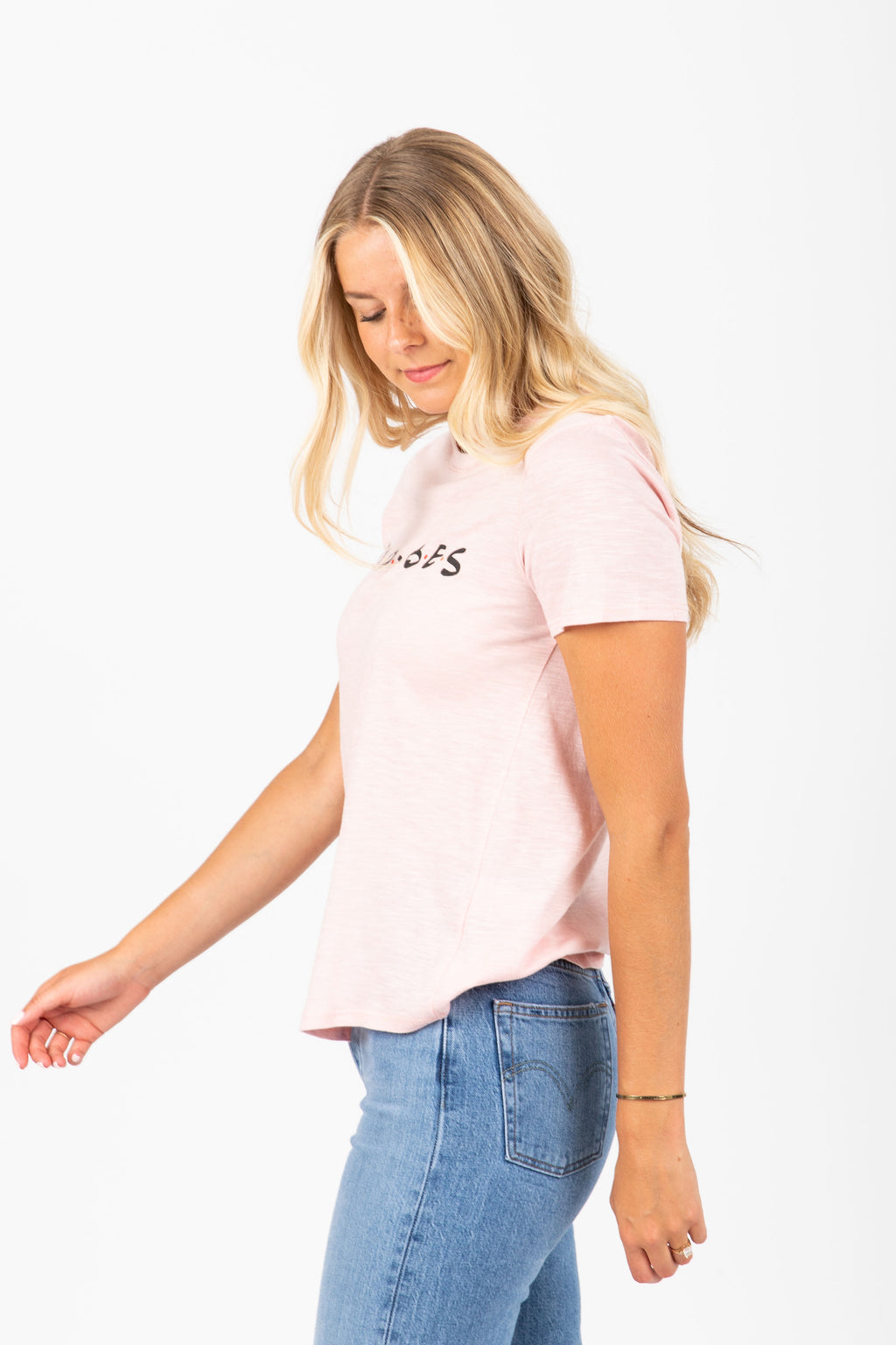 The Good Vibes Graphic Tee in Blush
