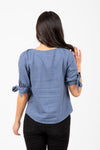The Cozad Button Blouse in Denim