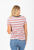 The Dancer Striped Tee in Blush Multi