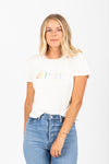 The Je T'Aime Graphic Tee in White
