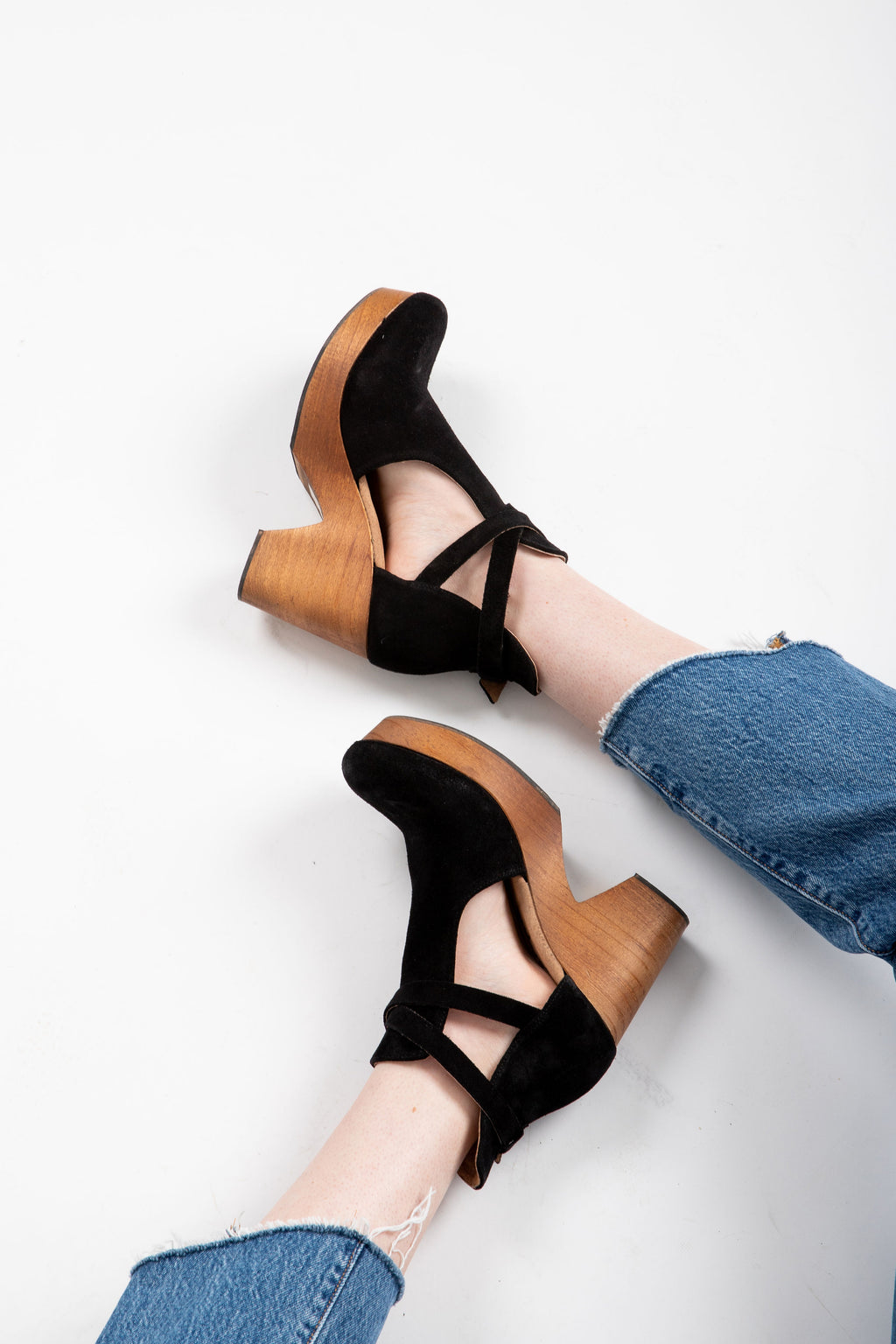 Free People: Cedar Clog in Black Suede