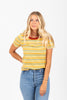 The Dancer Striped Tee in Mustard Multi