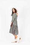 The Gobi Waffle Casual Dress in Mauve