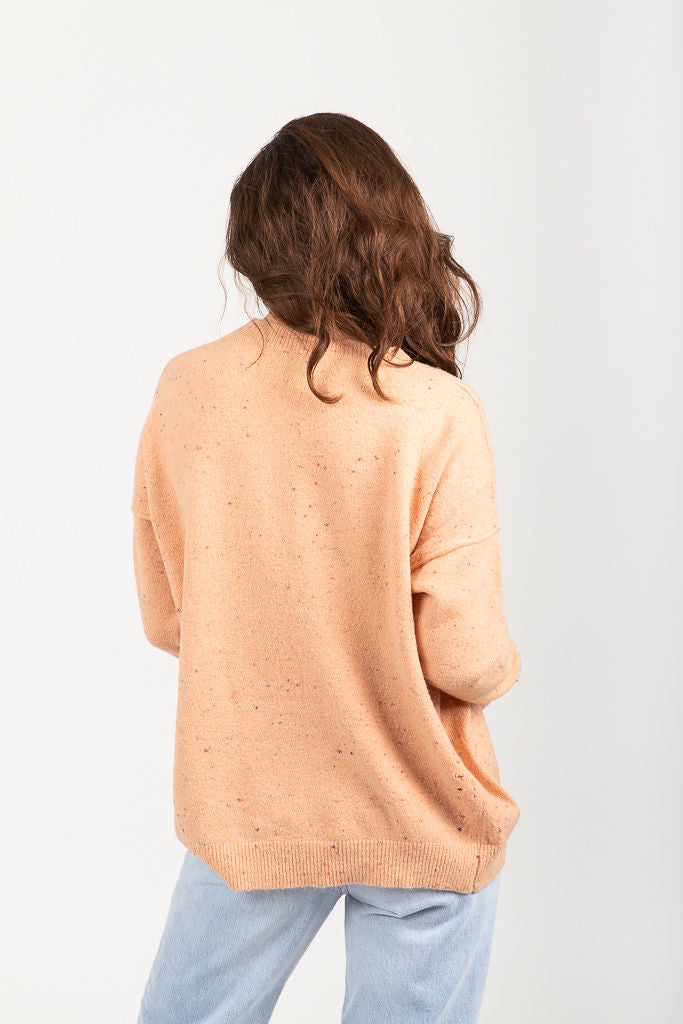 The Andover Speckled Sweater in Blush