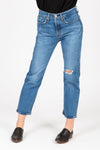 Levi's: Wedgie Fit Straight Jeans in Jive Tone, studio shoot; front view