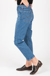 Levi's: Wedgie Fit Straight Jeans in Jive Tone, studio shoot; side view