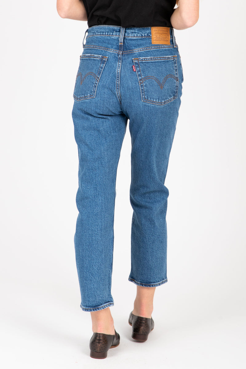 Levi's: Wedgie Fit Straight Jeans in Jive Tone, studio shoot; back view