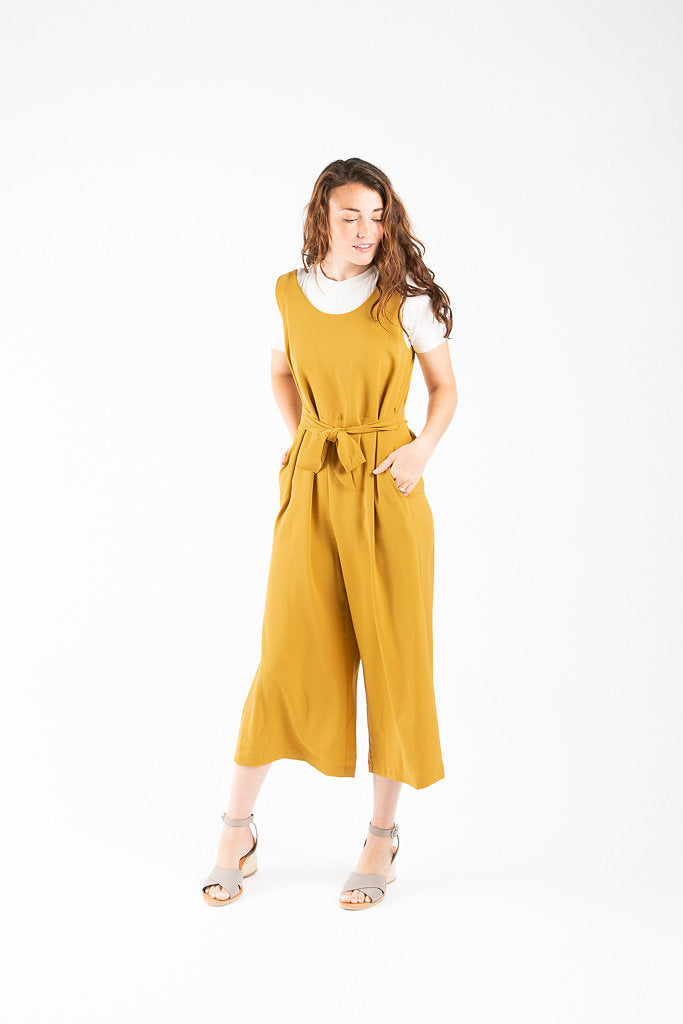 830a2d0f33c The Waverly Belted Jumpsuit in Mustard – Piper   Scoot