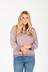 The Rise Striped Contrast Sweater in Blush Multi