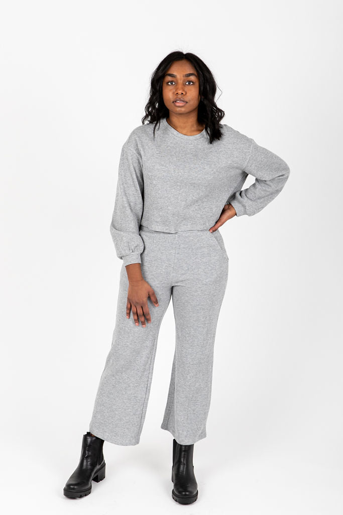 The Davia Casual Lounge Set in Heather Grey