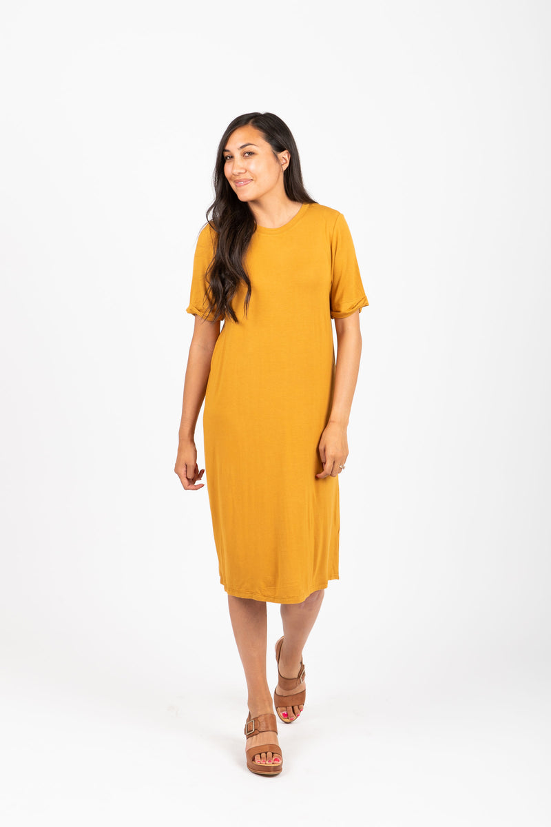 Piper & Scoot: The Prism Basic Detail Dress in Oak
