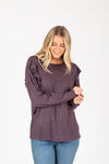 The Iris Speckled Sweater in Purple Combo